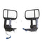 Pair Black Extendable Towing Mirrors fits Toyota Landcruiser 200 Series 2007-ON