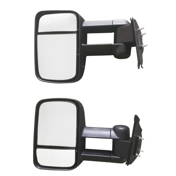 Pair Manual Extendable Black Side Mirrors Fits for Toyota HILUX 2005-2015 Black