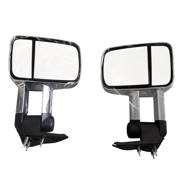 Manual EXTENDABLE MIRRORS fits NISSAN PATROL Y61 GU WAGON 1997- ONWARDS CHROME
