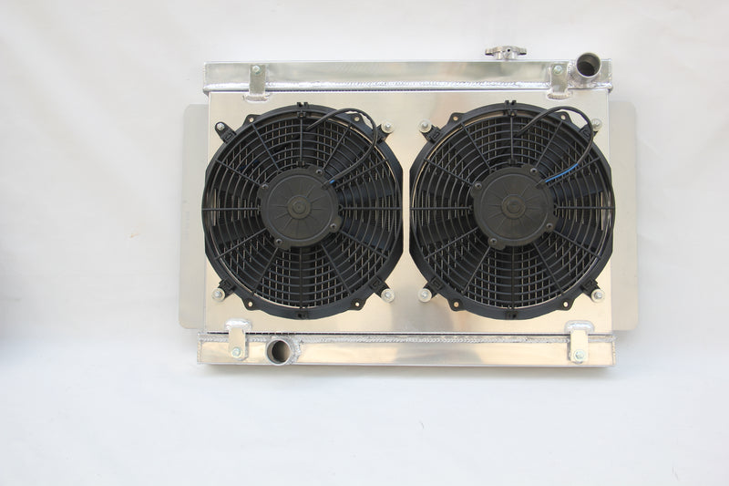 Aluminum Radiator+Fan Shroud kits for Holden Torana LH-LX V8 74-78+Free Coolant