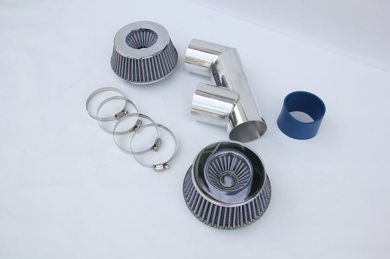 UNIVERSAL TWIN FILTER AIR INDUCTION INTAKE KIT MITSUBISHI EVO 3000GT FTO GALANT