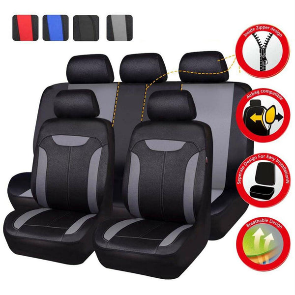 FITS Universal Car Seat Covers Blue 5 Seats Airbag Fit Breathable for Holden Toyota