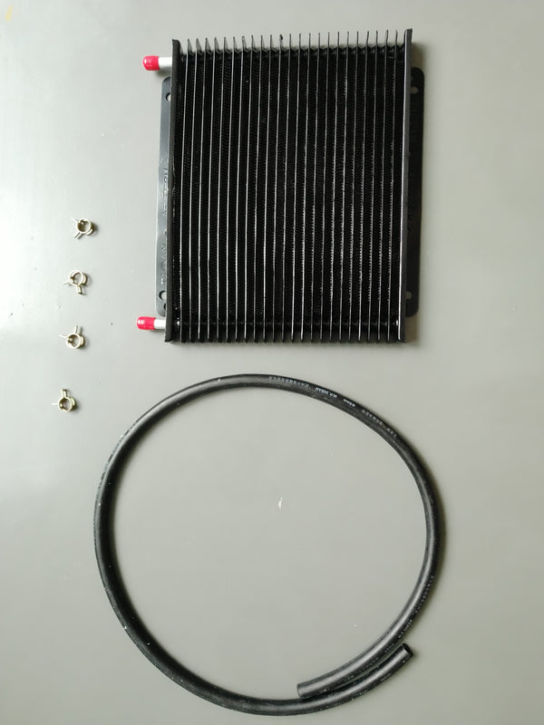 "FITS PWR V8 TRANSMISSION OIL COOLER KIT 3/8"" Barbs 23-Rows"