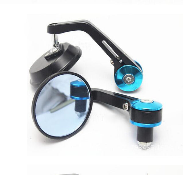 PAIR 7/8″ 22MM UNIVERSAL MOTORBIKE MOTORCYCLE BIKE BAR END REARVIEW SIDE MIRRORS