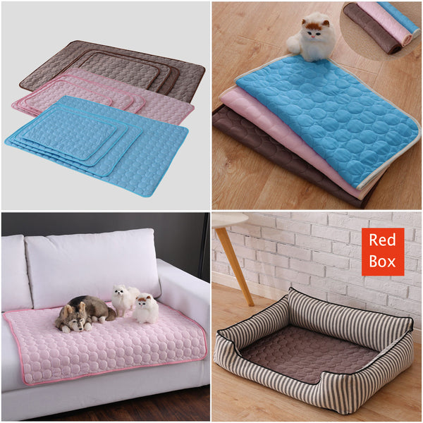 Pet Dog Cat Cool Mat Self Cooling Pad Bed Mattress Heat Relief Non-Toxic