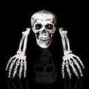 FITS Halloween Horror Skeleton Head Bones Decorations Skull Hand Indoor Outdoor
