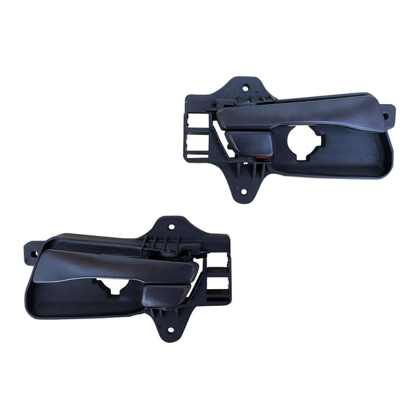 Fits FRONT 1 Pair LH+RH Hand Inner Door Handle Black For Hyundai I30 FD 2007~2012