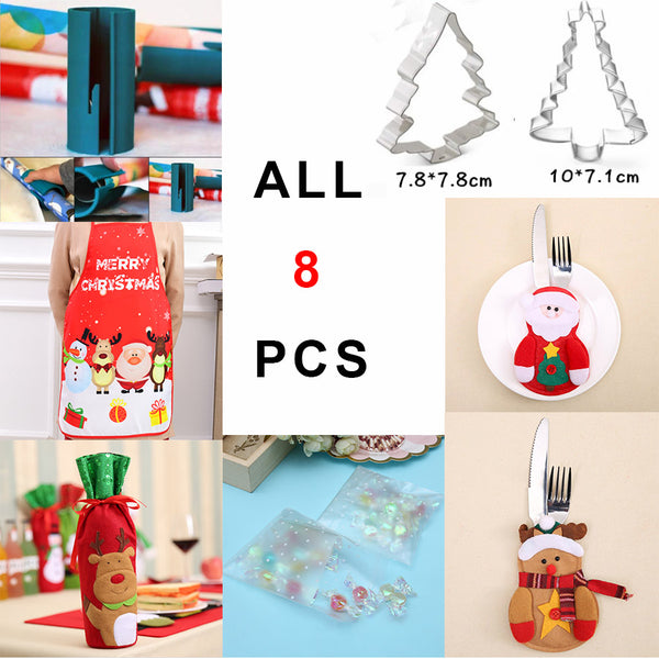 8pcs BIG GIFT Pastry Decor Christmas Cake Mold Kitchen Tool