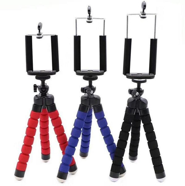 Fits Universal Adjustable Octopus Tripod stand Phone Holder for iPhone Camera