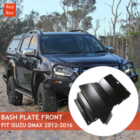 Bash Plate Front & Sump Guard Matte Black 4MM fit Isuzu DMAX 2012-2016/Holden Colorado RG 2012-2016
