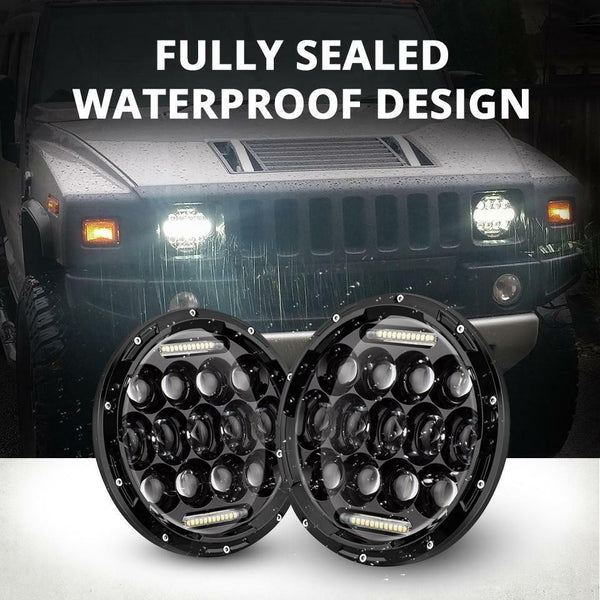 "75W LED Headlights 7"" CREE Round Kit Fits Jeep Wrangler TJ JK 97-17"