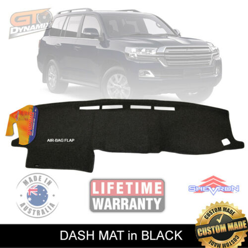 Dash Mat fits Landcruiser 200 Series FACELIFT 9/2015-2020 GXL VX DM1421 BLACK