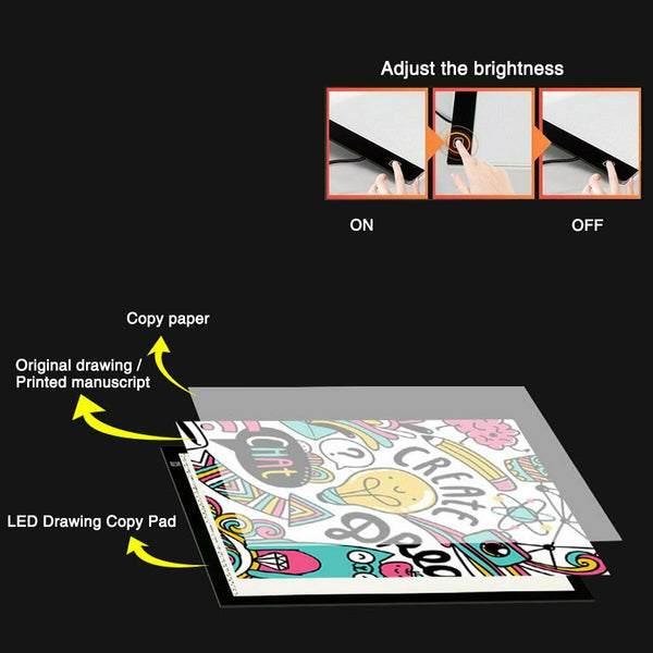 A3/A4/A5 LED Light Box Tracing Draw Board Art Design Pad Copy Lightbox Day&Light