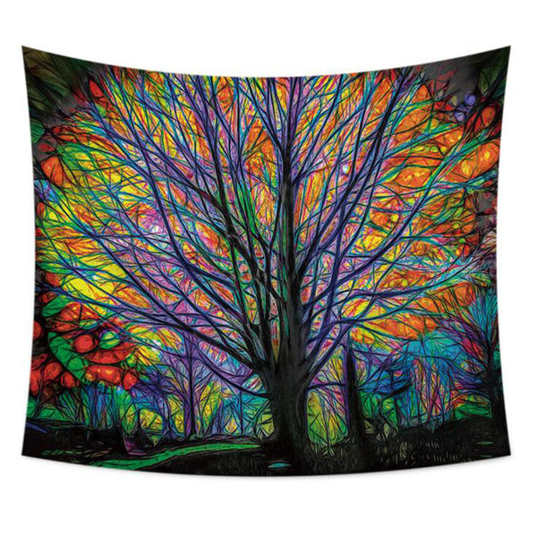 Fits Colorful Tree Tapestry Wall Hanging Bedspread Gypsy Art Decor Tablecloth Beach Towel