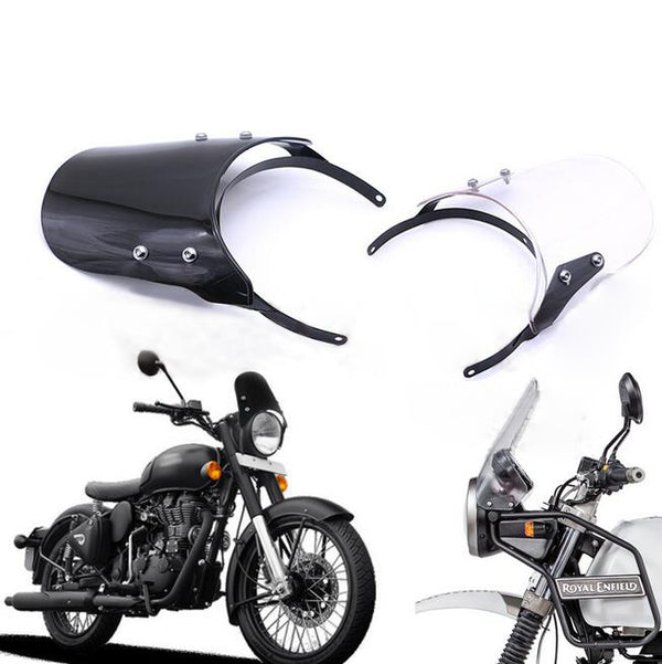 "Universal Windshield WindScreen Suit 7"" Round Headlight For HONDA SUZUKI YAMAHA"