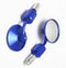 Blue ROUND UNIVERSAL MOTORCYCLE BAR END MIRRORS BIKE/MOTORBIKE REARVIEW