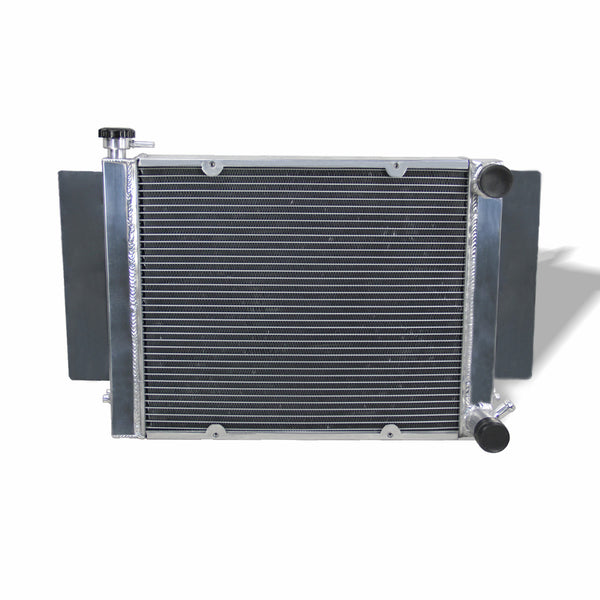 Mazda RX2 RX3 RX4 RX7 with Heater Pipe 3Row Aluminum Radiator