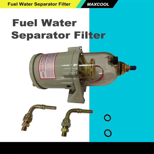 500FG Diesel Marine Boat Fuel Filter / Water Separator With Bolt Ring