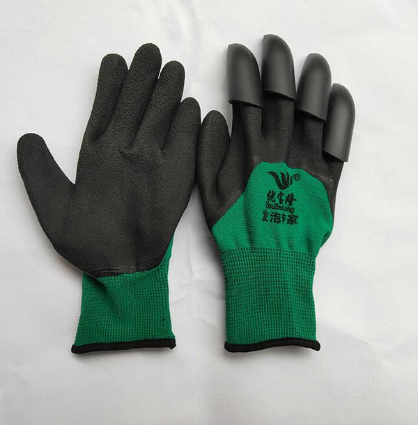 2 pairs New Garden Gloves For Digging&Planting With4 ABS Plastic Claws Gardening