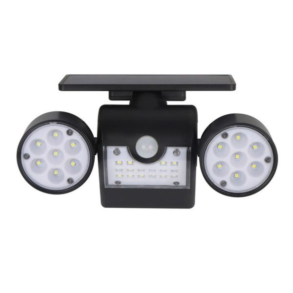 360-Degree Rotatable Solar Lights Outdoor Motion Sensor Dual Head Spotlights