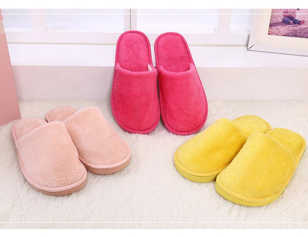 Fits Women House Indoor Slippers Home Warm Cotton Shoes Soft