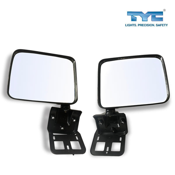 FITS Pairs Manual Door Mirror Black For Mitsubishi Triton Ute ME MF MG MH MJ 89~96