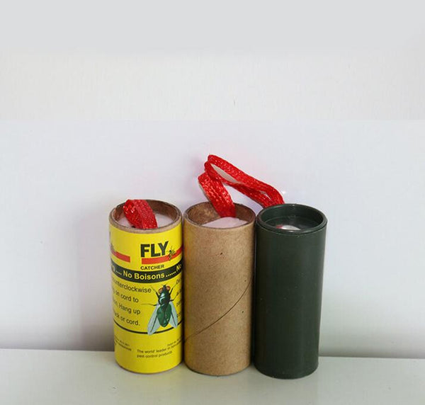 20 Rolls Insect Bug Fly Glue Paper Catcher Trap Ribbon Strip Sticky Tape Flies