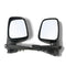 Fits Door Mirror Black Manual Left And Right Hand Side for Ute Rodeo Colorado