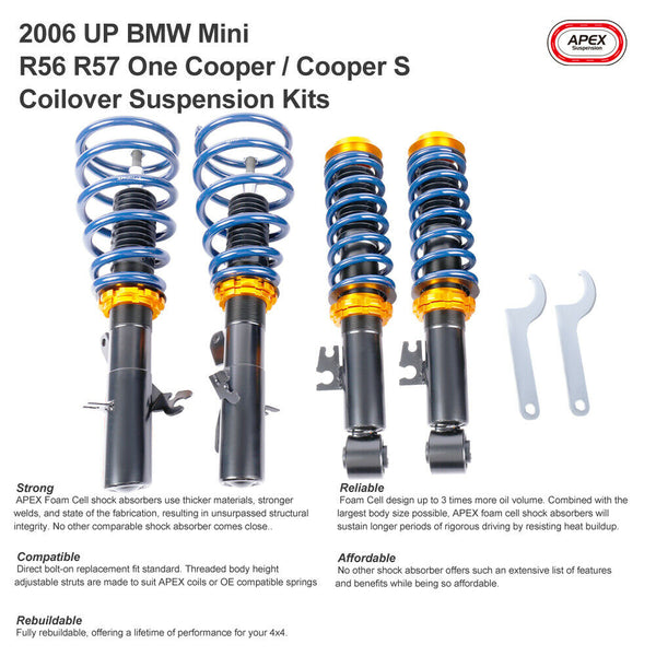Adjustable Coilover Suspension Kits fits BMW Mini R50 R52 R53 One Cooper S 02-06