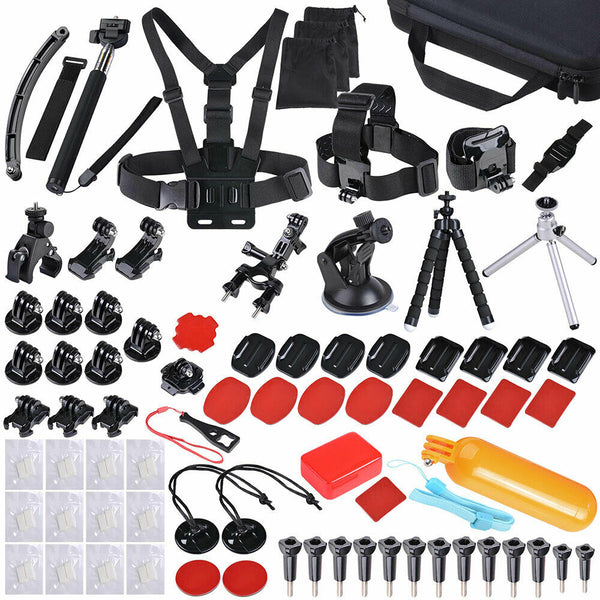 216Pcs Accessories Pack Case Chest Head Floating Monopod GoPro Hero 7 6 5 4 3+ 2