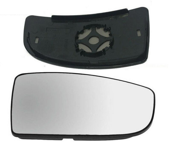 FITS FORD TRANSIT Mk8 LOWER RH DRIVER SIDE DOOR WING MIRROR GLASS WITH BACK PLATE
