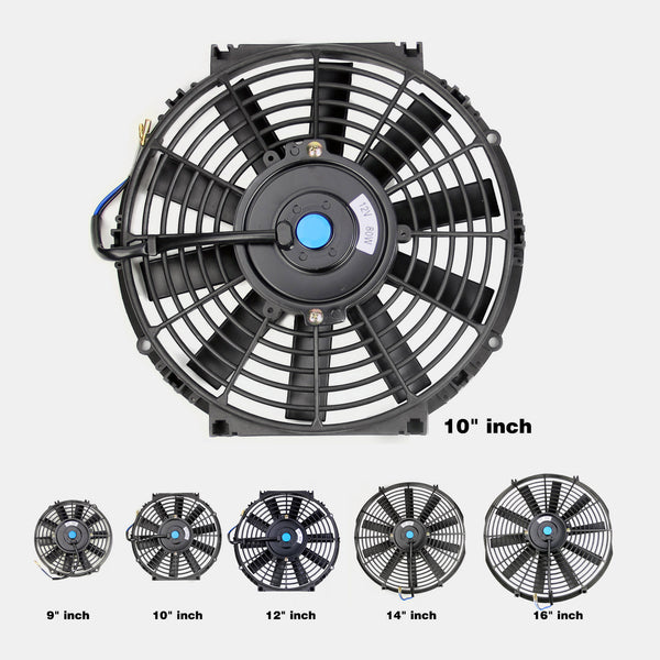 "Radiator Cooling Fan Push/Pull Universal 9"" 10"" 12"" 14"" 16"" Electric with Kits"