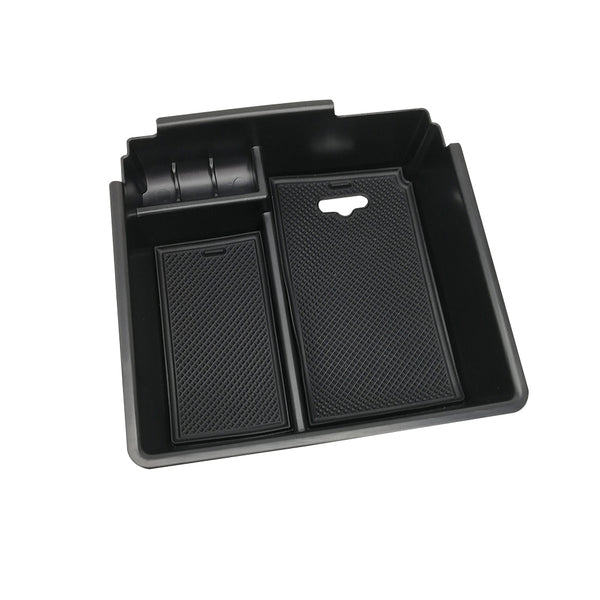 Ford Ranger PX2 PX3 Center Console Armrest Storage Tray + Rubber Mat Black