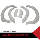 FITS White Fender Flares Wheel Arch to suit Toyota Hilux SR5 SR 2011-2015 6 Inch 6pcs