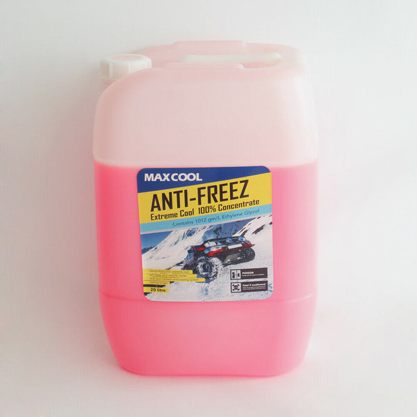MAXCOOL 350,000km Anti freeze Coolant Concentrate 20L Red color VALUE PACK