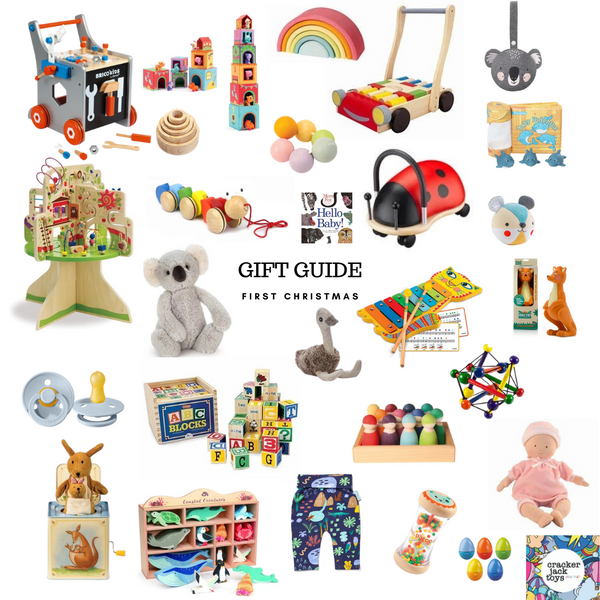Crackerjack toys baby's first Christmas toy ideas