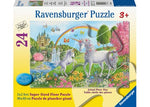 Super Sized 24pc Floor Puzzle - Prancing Unicorns