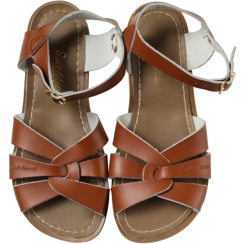 Saltwater Sandals Original Tan Youth Size 2
