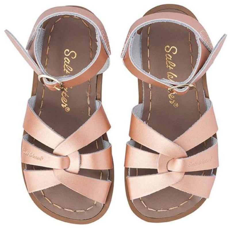 Saltwater Sandals Rose Gold size 9 (child)
