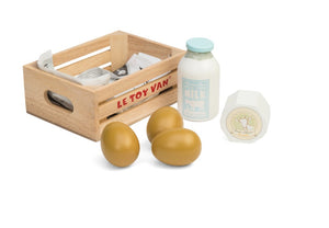 Le Toy Van Market Crate Eggs & Dairy