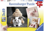 Funny Animal Portraits - 3x49pc Puzzles
