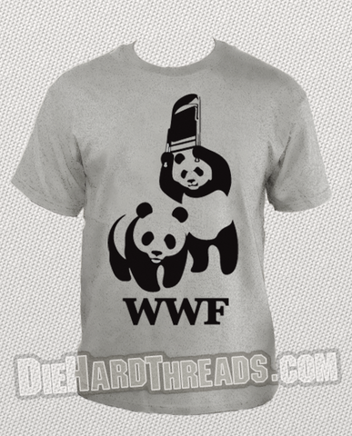 Wwf Panda Bears Wrestling T Shirt Wwe Pandas Chair Wrestle T