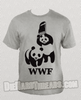 WWF WWE Gray Wrestling Panda Chair Shirt