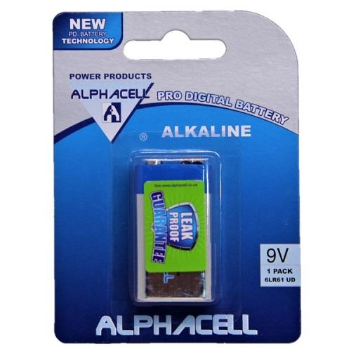 Alphacell Pro Alkaline Digital Battery - Size 9V 1pc