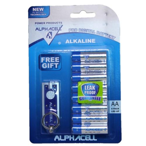 Alphacell Pro Alkaline Digital Battery - Size AA 8pc