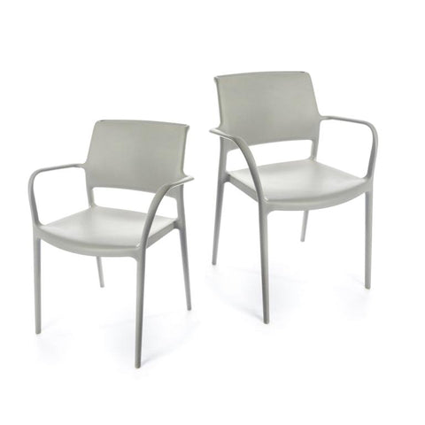 Ara Armchair - set of 2 chairs - Grey