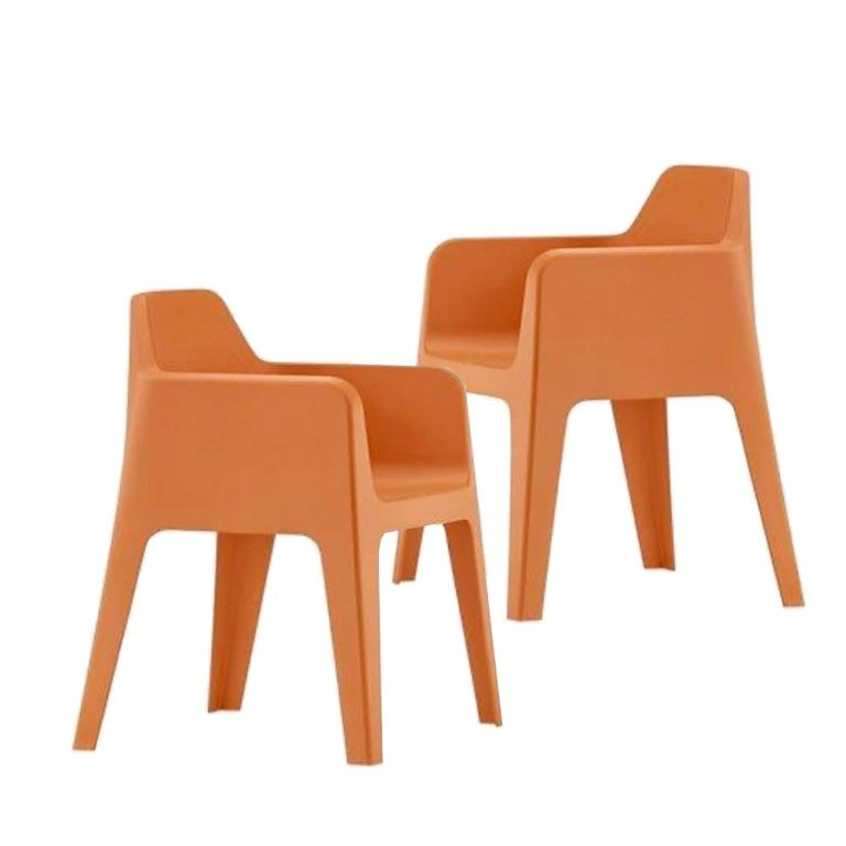 Plus Armchair Pedrali Italy - set of 2 chairs - Orange
