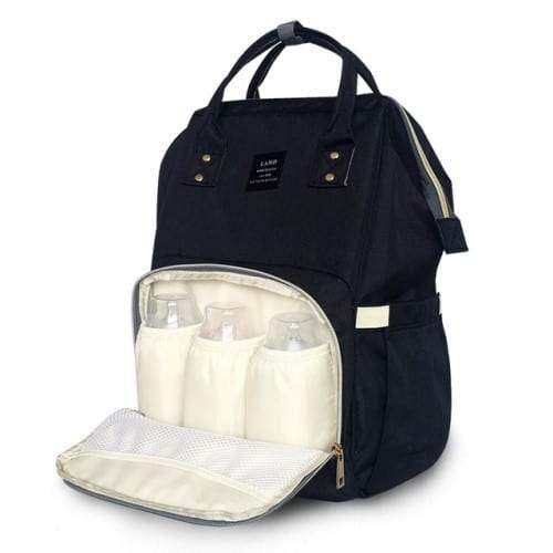 4aKid Backpack Baby Bag - Black Diaper Bags - 4aKid