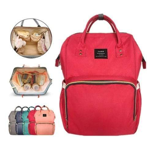 4aKid Backpack Baby Bag - Red Diaper Bags - 4aKid