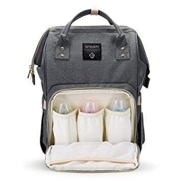 4aKid Backpack Baby Bag - Grey Diaper Bags - 4aKid